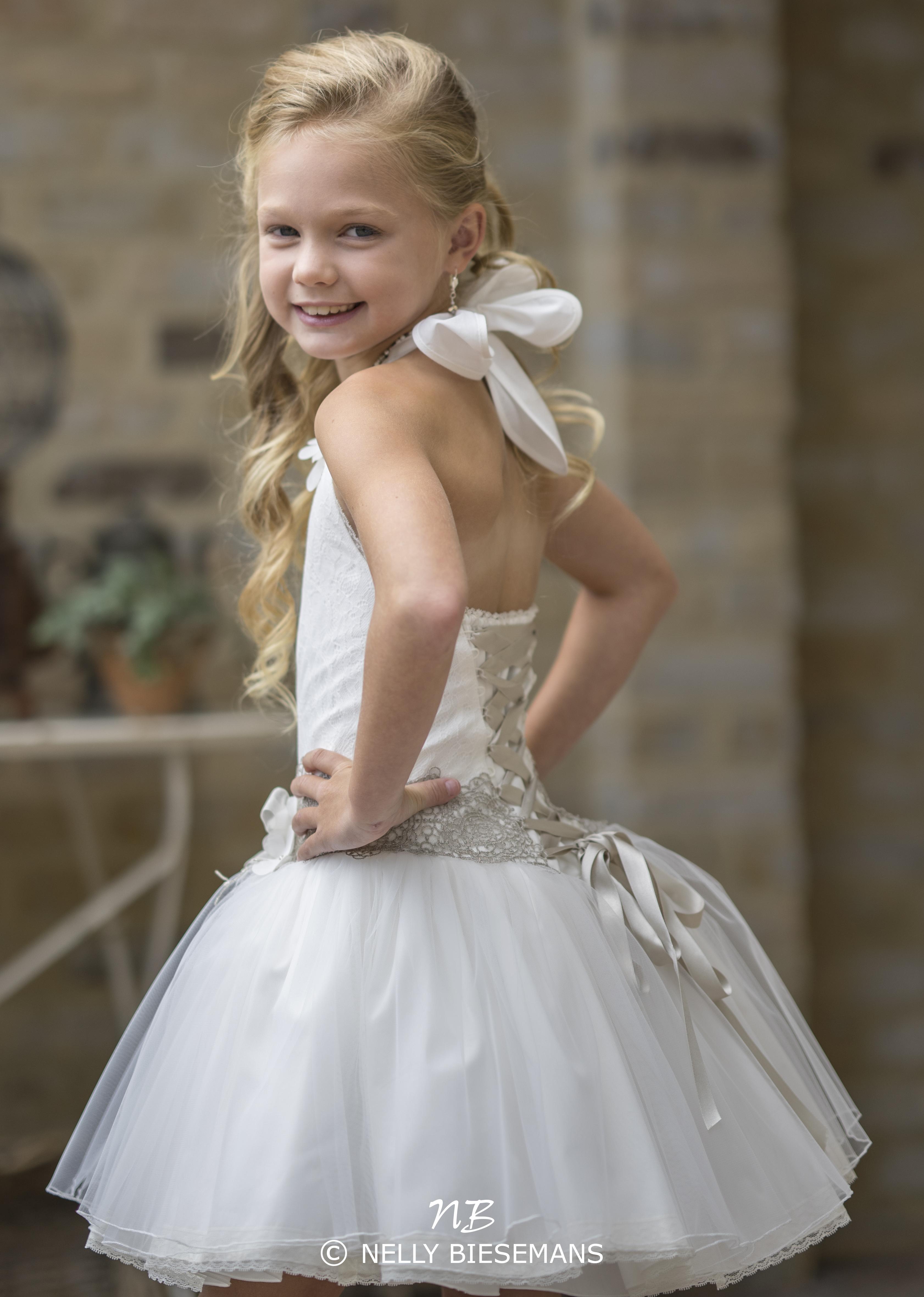 exclusieve communiejurk – bruidsmeisje – vormsel – Nelly Biesemans – www.nb4kids.com – A19K15(2)