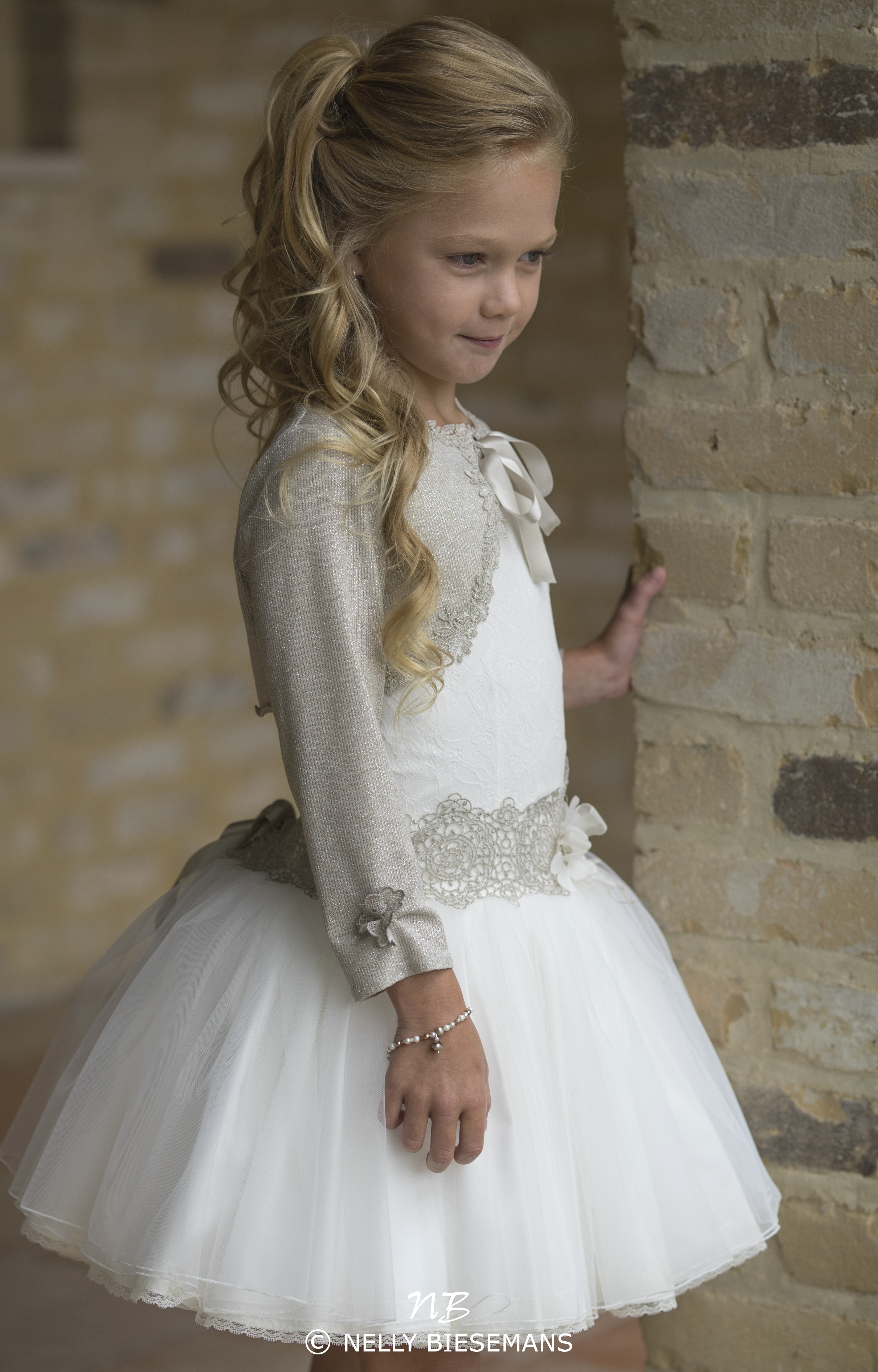 exclusieve communiejurk – bruidsmeisje – vormsel – Nelly Biesemans – www.nb4kids.com – A19K15(5)