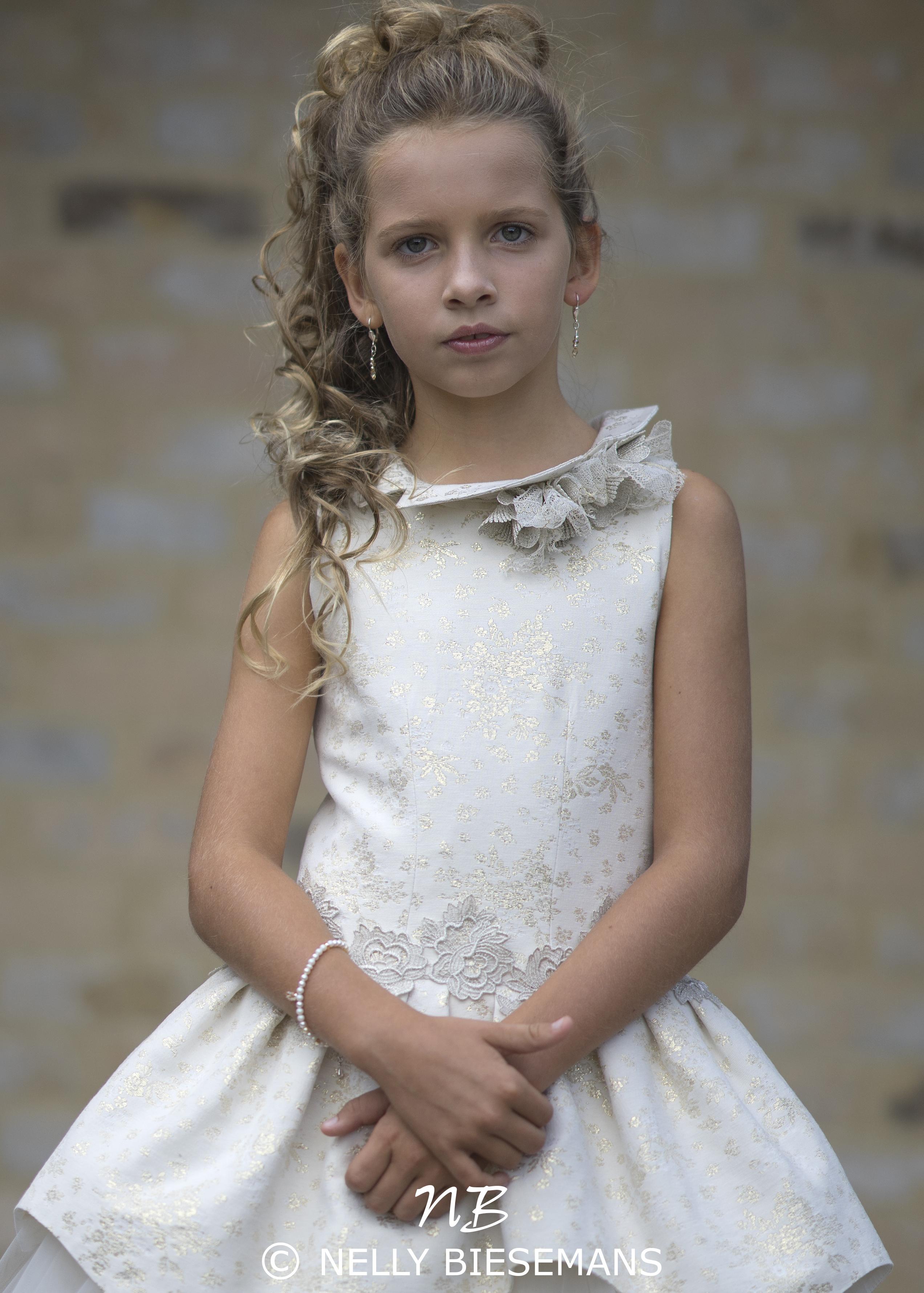 exclusieve communiejurk – bruidsmeisje – vormsel – Nelly Biesemans – www.nb4kids.com – A19K20(1)