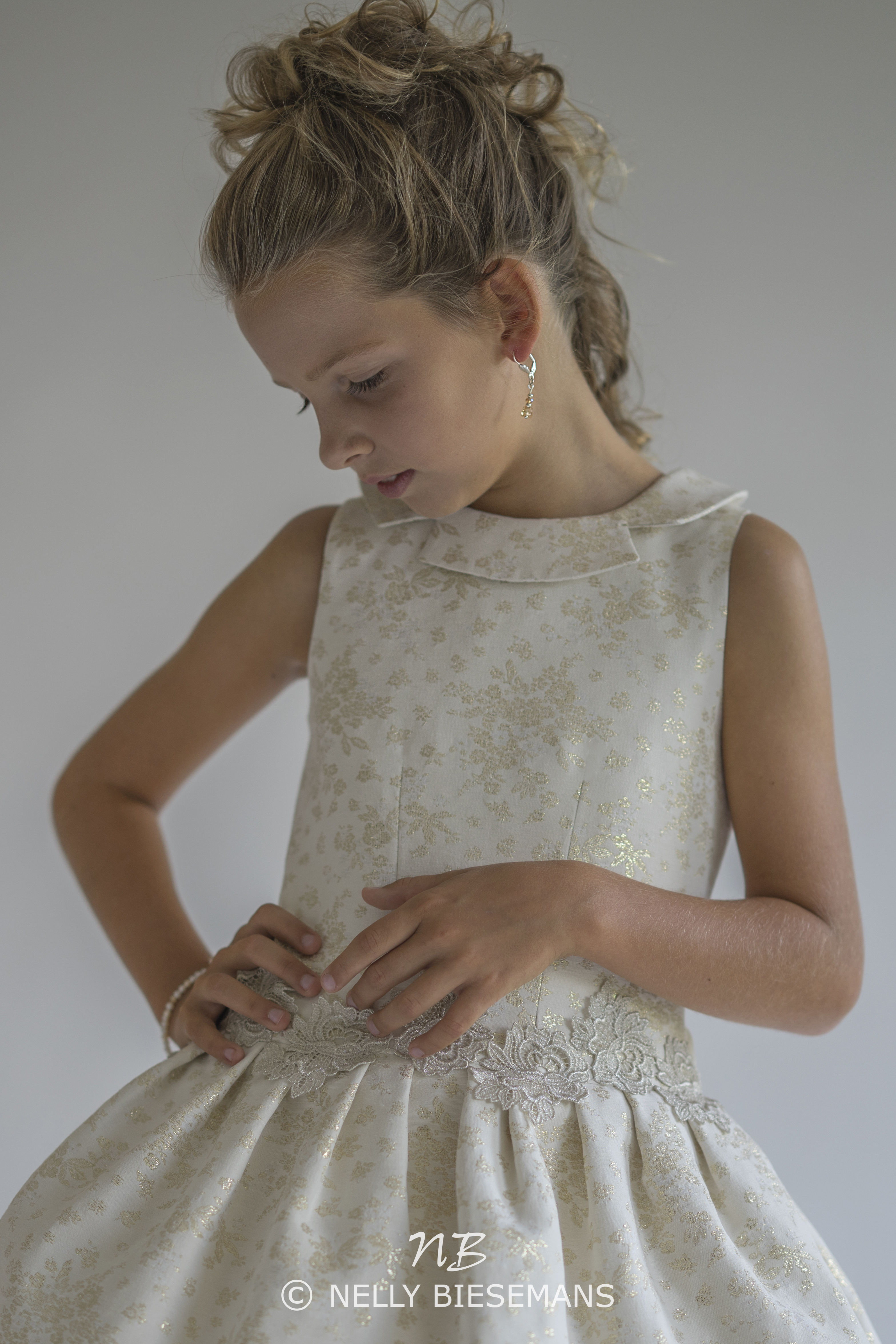 exclusieve communiejurk – bruidsmeisje – vormsel – Nelly Biesemans – www.nb4kids.com – A19K20(3)