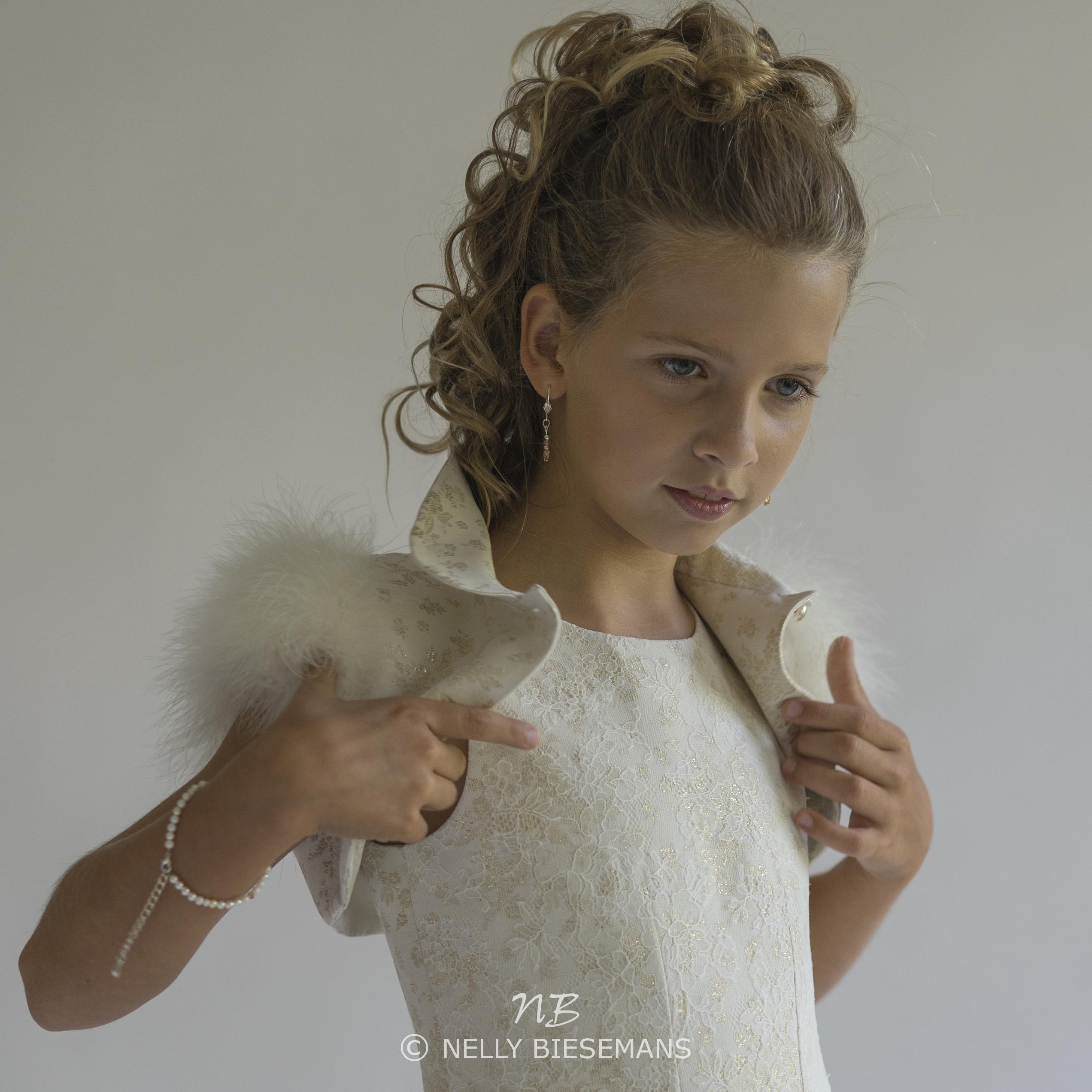 exclusieve communiejurk – bruidsmeisje – vormsel – Nelly Biesemans – www.nb4kids.com – A19K22(1)