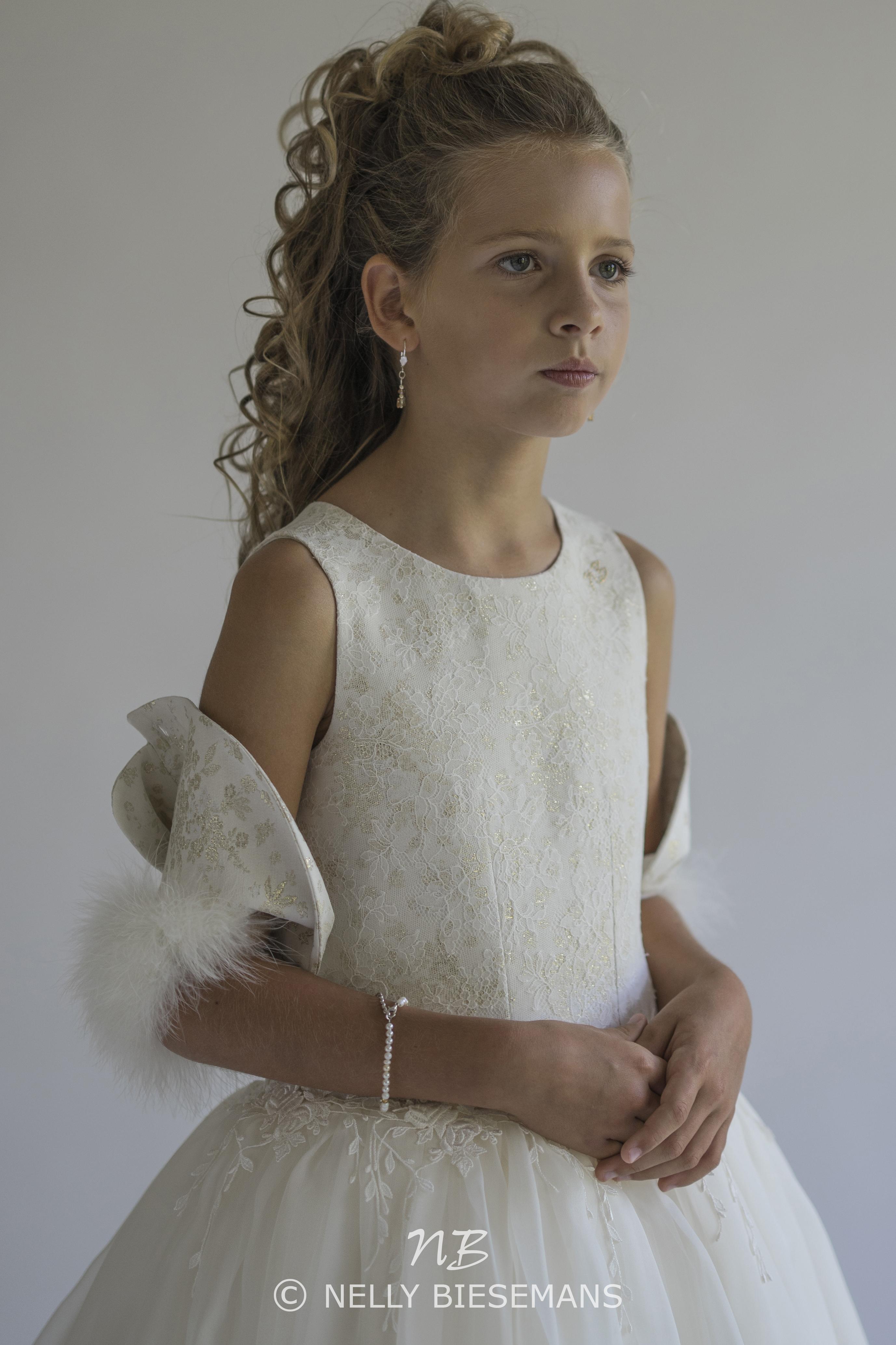 exclusieve communiejurk – bruidsmeisje – vormsel – Nelly Biesemans – www.nb4kids.com – A19K22(2)