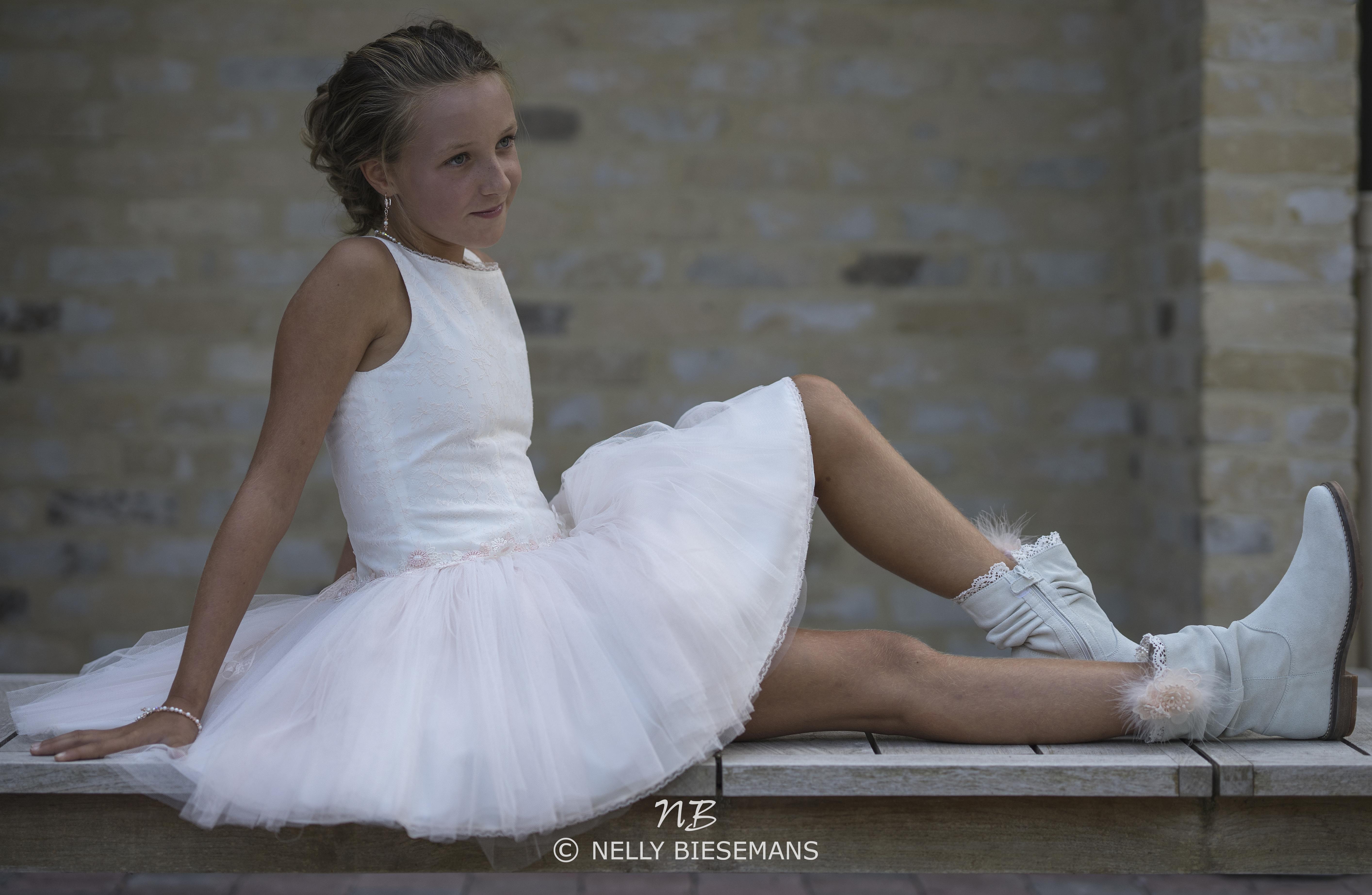 exclusieve communiejurk – bruidsmeisje – vormsel – Nelly Biesemans – www.nb4kids.com – A19K24(4)